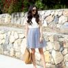 Spódnica w paski – idealna stylizacja do pracy na letnie dni:)