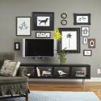 11 inspirujących pomysłów na dekorację kącika telewizyjnego